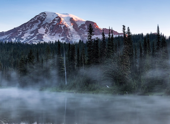Mount Rainier National Park landscape view