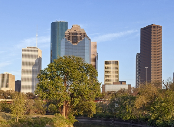 Buffalo Bayou and Downtown Houston, Texas