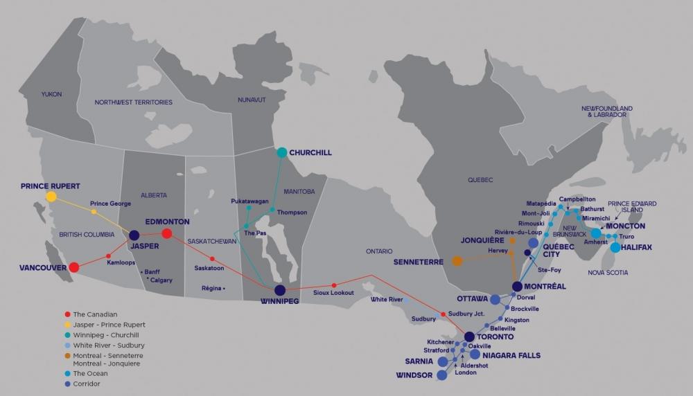 VIA Rail Train Network