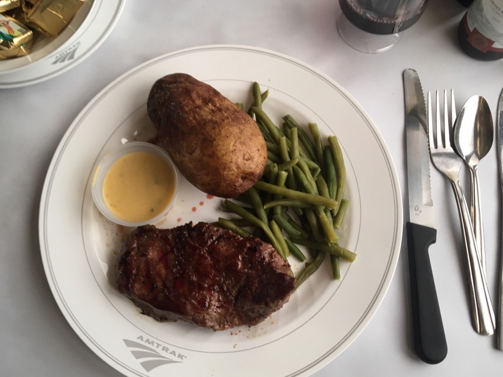 dinner onboard the california zephyr