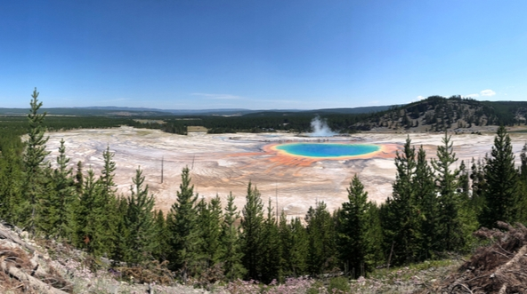 ring of fire at yellowstone national park